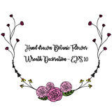 Dragen färgrik botanisk linje Royaltyfri Foto
