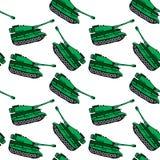 Dragen grön behållare för tecknad film hand, sömlös modell vektor illustrationer