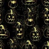 Dragen halloween för färgpulver hand modell med pumpatecken stock illustrationer