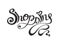 Dragen hand shoppa bokstäver Fotografering för Bildbyråer