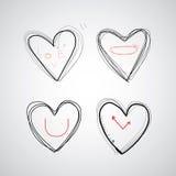 Dragen hjärta för vektor hand Fotografering för Bildbyråer