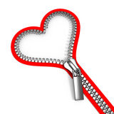dragen igen blixtlåset på hjärta vektor illustrationer