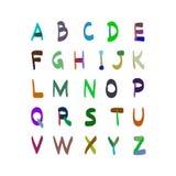 Dragen illustration för alfabetvektor hand inställda symboler Arkivbilder