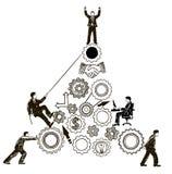 Dragen illustration för teamworkbegreppsvektor hand vektor illustrationer