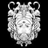 Dragen illustration för vektor hand av förmögenhetkassören Royaltyfri Foto