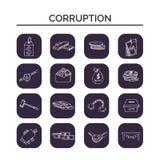 Dragen klotteruppsättning för korruption hand skissar Vektorillustration för design- och packeprodukt Symbolsamling stock illustrationer