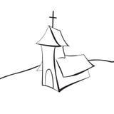 Dragen kyrklig linje Vektor Illustrationer