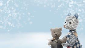 2 dragen op sneeuwachtergrond Royalty-vrije Stock Foto's