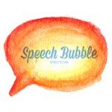 Dragen orange anförandebubbla för vektor vattenfärg Arkivfoto
