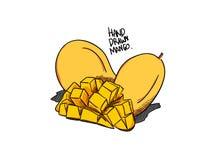 Dragen stil för Illusration mangovektor hand stock illustrationer