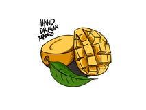 Dragen stil för mangovektor hand stock illustrationer