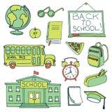 Dragen uppsättning för utbildning hand royaltyfri illustrationer