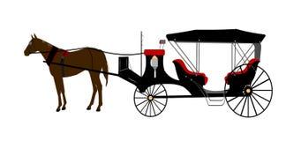 Dragen vagn för tappning häst Royaltyfri Bild