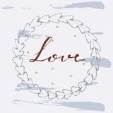 Dragen vektorillustration för förälskelse hand Royaltyfria Bilder
