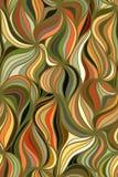 Dragen vektorvågbakgrund av klotterhanden fodrar Royaltyfri Bild