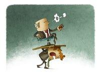 Dragende werkgever vector illustratie
