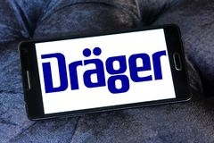Drager, Drägerwerk, bedrijfembleem stock foto's