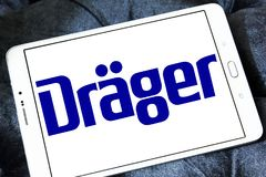 Drager, Drägerwerk, firma logo Fotografia Royalty Free