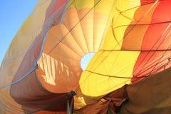 Dragging Deflating Hot Air Balloon Royalty Free Stock Images