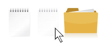 Dragging file inside a document folder. Illustration design Stock Photo