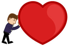 Dragging a Heavy Heart Vector Illustration Royalty Free Stock Photography