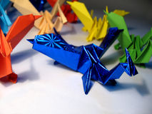 Draghi di origami Fotografia Stock Libera da Diritti