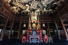 Draghi gemellati Paintint al tempio di Kenninji Immagine Stock