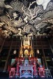 Draghi gemellati Paintint al tempio di Kenninji Fotografia Stock Libera da Diritti