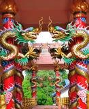 Draghi in tempio cinese Immagine Stock Libera da Diritti