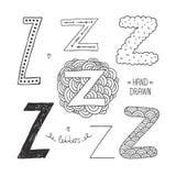 Dragit alfabet för vektor hand Royaltyfri Bild