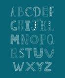 Dragit alfabet för vektor hand Arkivbild