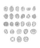 Dragit alfabet för vektor hand Royaltyfria Bilder