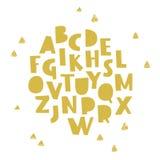 Dragit alfabet för vektor hand stock illustrationer