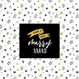 Dragit kort för glad jul hand stock illustrationer