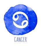 Dragit zodiaktecken för cancer hand royaltyfri illustrationer