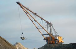 dragline ανοικτό κοίλωμα Στοκ Εικόνα