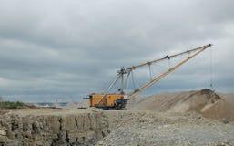 dragline ανοικτό κοίλωμα Στοκ Φωτογραφίες