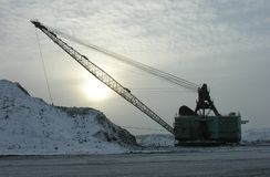 dragline αυγής Στοκ εικόνα με δικαίωμα ελεύθερης χρήσης