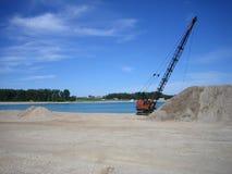 dragline κοίλωμα αμμοχάλικου Στοκ εικόνα με δικαίωμα ελεύθερης χρήσης