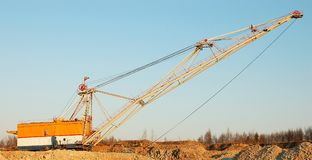 Dragline 2. Dragline in oil-shale quarry Stock Images