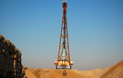 Dragline. In oil-shale quarry Stock Photography