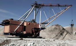 Dragline. View of open cast mining quarry Stock Photos