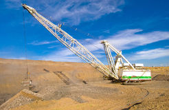Dragline in coal mine Royalty Free Stock Photos