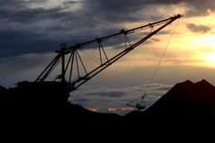 Dragline in the evening Stock Photography