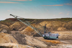 Dragline excavator stock photos