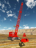 Dragline excavator Royalty Free Stock Photos