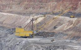 Dragline excavator in a opencast coal mine Stock Image