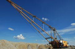 Dragline in open pit stock image