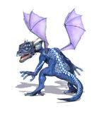 Dragón del bebé con las alas púrpuras Imagen de archivo libre de regalías
