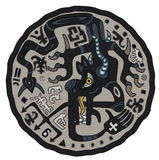 Dragón negro Imagen de archivo